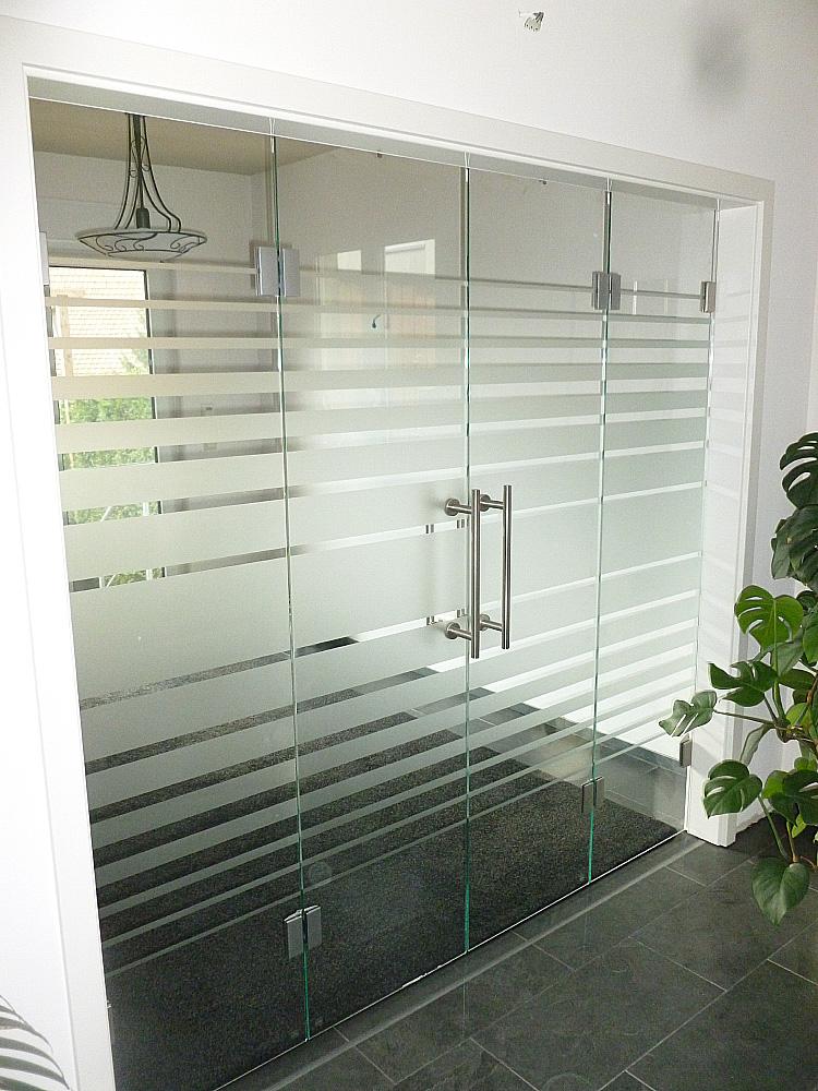 Falttüranlage Glas für den Innenbereich